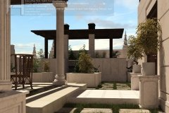 کلاسیک - محوطه سازی - روف گاردن - شرکت معماری