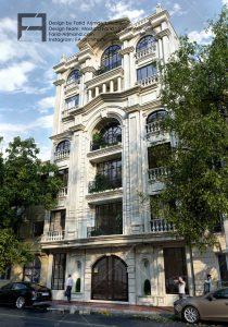 طراحی نما ساختمان کلاسیک