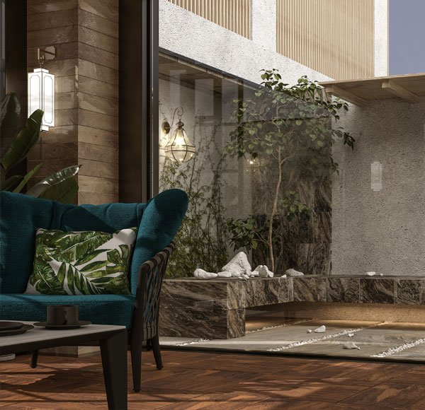 طراحی داخلی و روف گاردن (یزد)