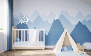 طراحی اتاق خواب کودک آبی رنگ