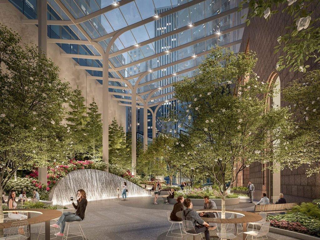 طراحی فضای سبز ساختمان تجاری