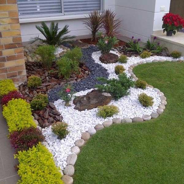 اجرای محوطه سازی در حیاط