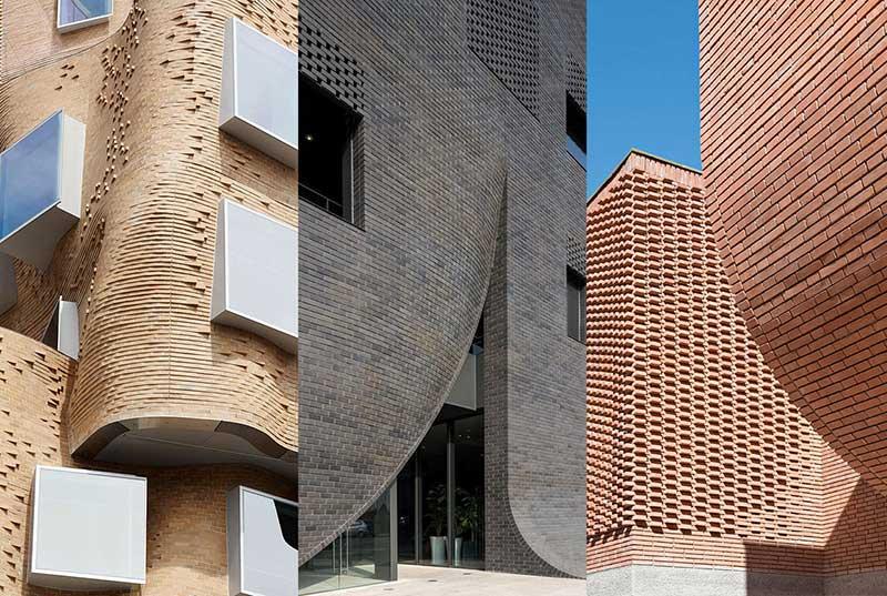 طراحی نمای آجری ساختمان