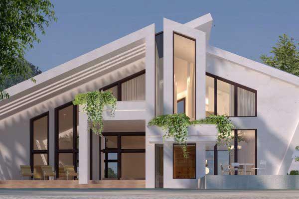 نمای ساختمان ویلایی و آپارتمان