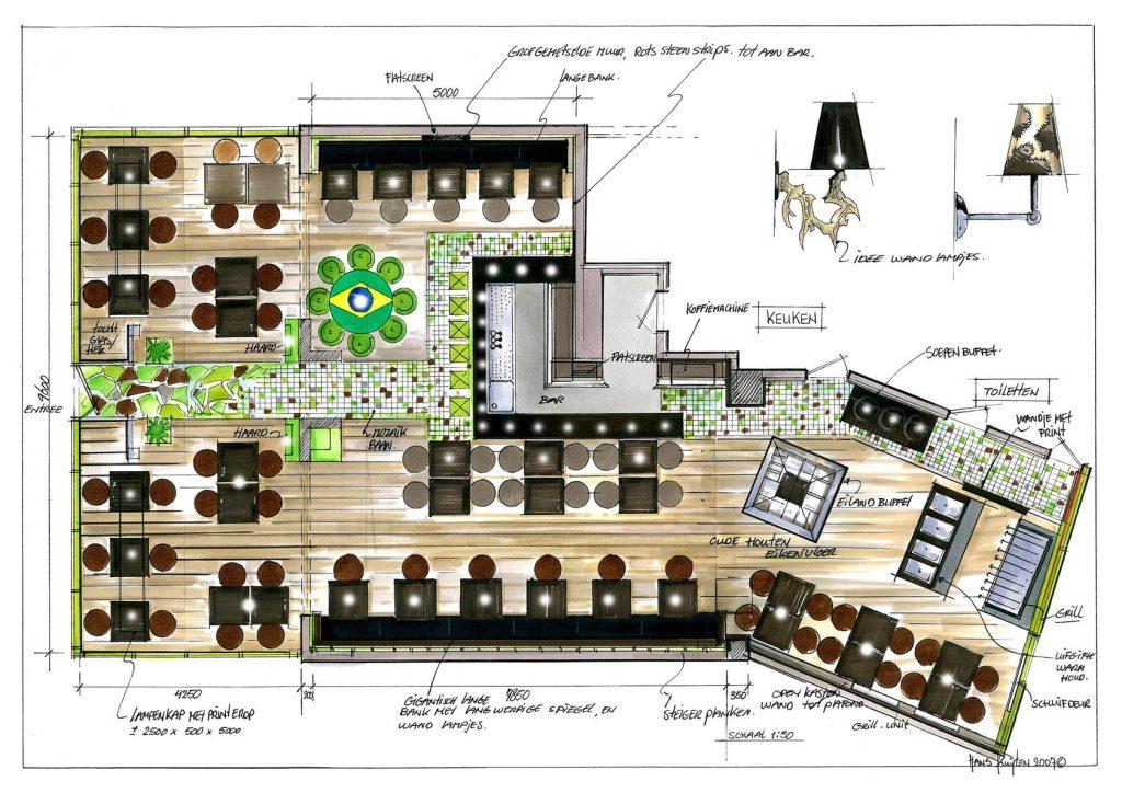 طراحی پلان رستوران