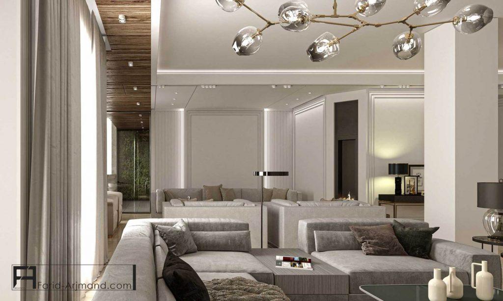 طراحی داخلی عمارت افرا